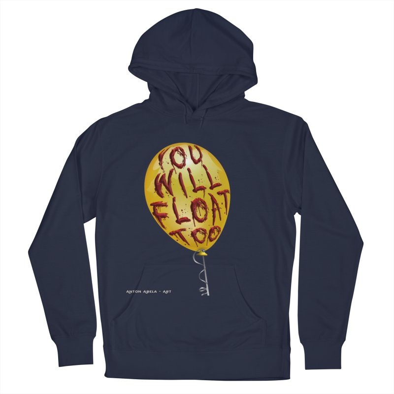 You Will Float Too! Men's French Terry Pullover Hoody by AntonAbela-Art's Artist Shop