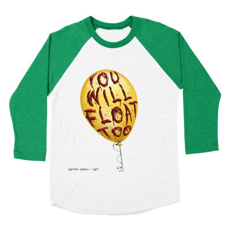 You Will Float Too! Women's Baseball Triblend Longsleeve T-Shirt by AntonAbela-Art's Artist Shop