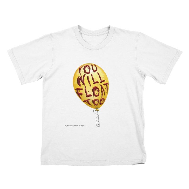 You Will Float Too! Kids T-Shirt by AntonAbela-Art's Artist Shop