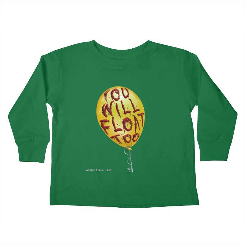 You Will Float Too! Kids Toddler Longsleeve T-Shirt by AntonAbela-Art's Artist Shop
