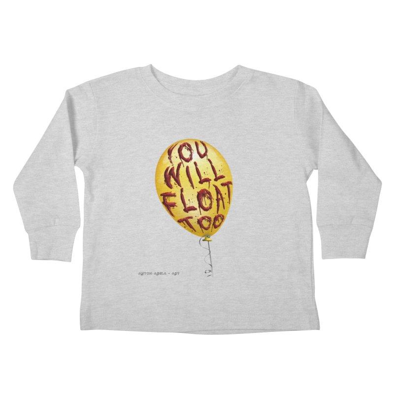 You Will Float Too! Kids Toddler Longsleeve T-Shirt by AntonAbela-Art's Artist Shop