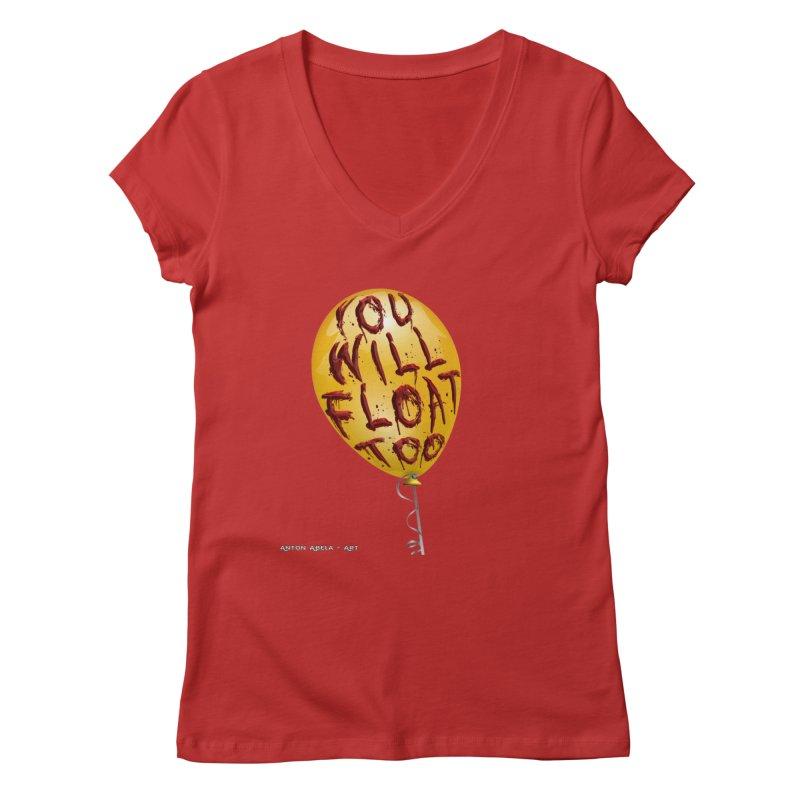 You Will Float Too! Women's V-Neck by AntonAbela-Art's Artist Shop