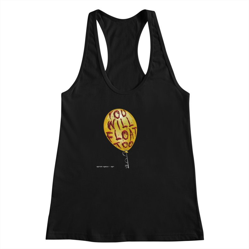 You Will Float Too! Women's Racerback Tank by AntonAbela-Art's Artist Shop