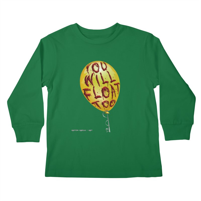 You Will Float Too! Kids Longsleeve T-Shirt by AntonAbela-Art's Artist Shop