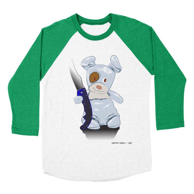 Daddy's 'lil Psycho Boy Women's Baseball Triblend T-Shirt by AntonAbela-Art's Artist Shop