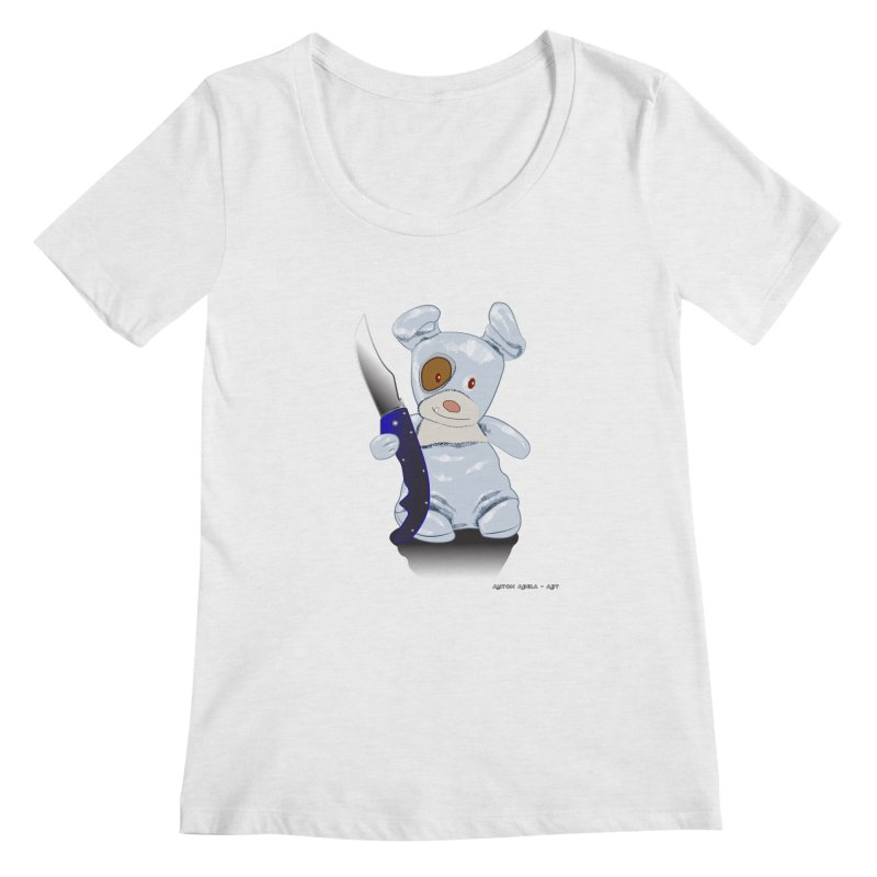 Daddy's 'lil Psycho Boy Women's Scoop Neck by AntonAbela-Art's Artist Shop