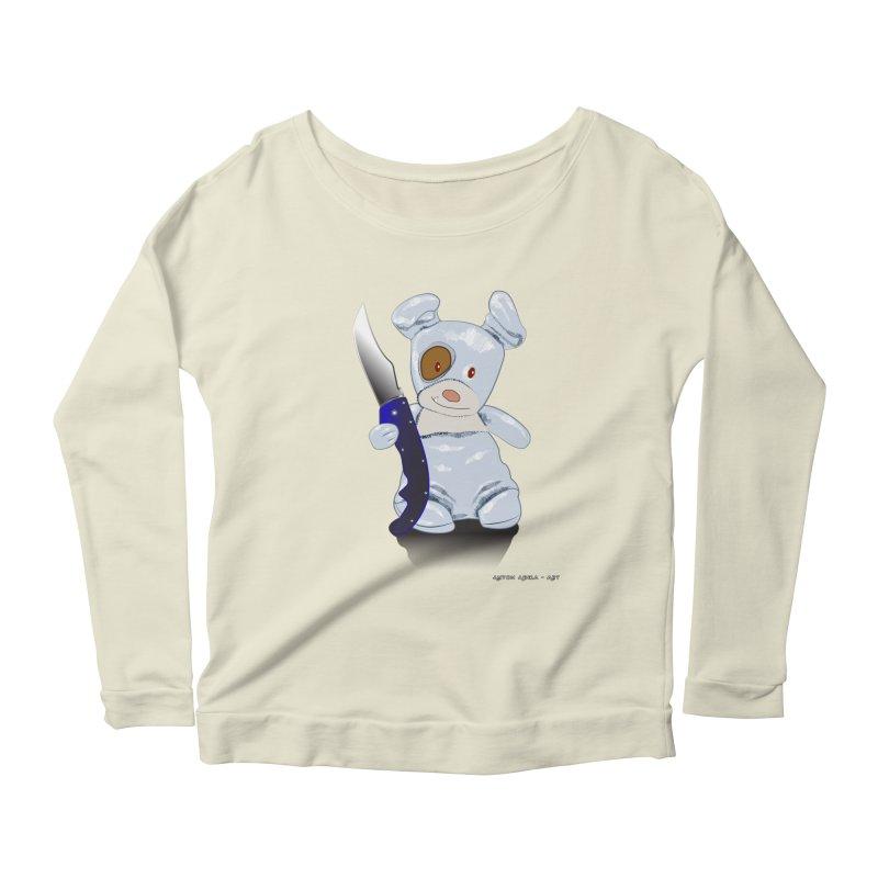 Daddy's 'lil Psycho Boy Women's Scoop Neck Longsleeve T-Shirt by AntonAbela-Art's Artist Shop