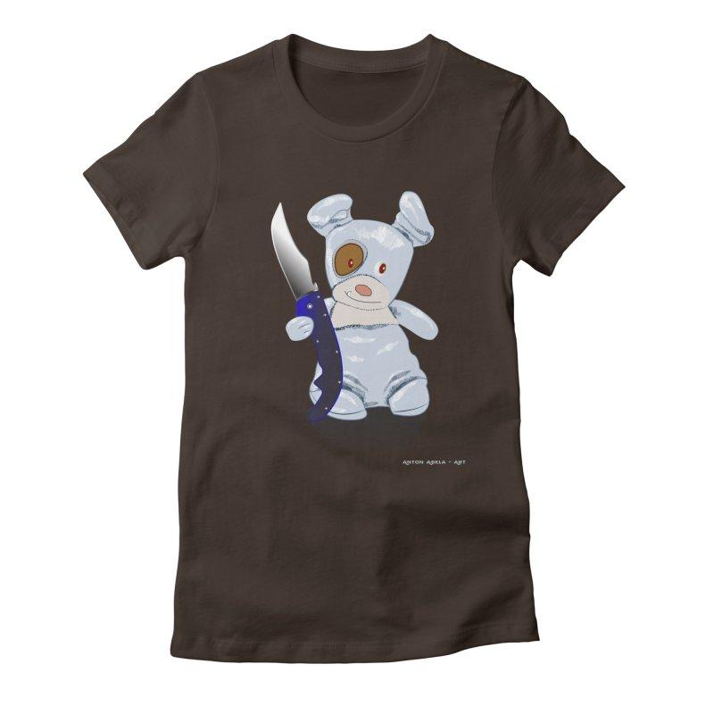 Daddy's 'lil Psycho Boy Women's Fitted T-Shirt by AntonAbela-Art's Artist Shop