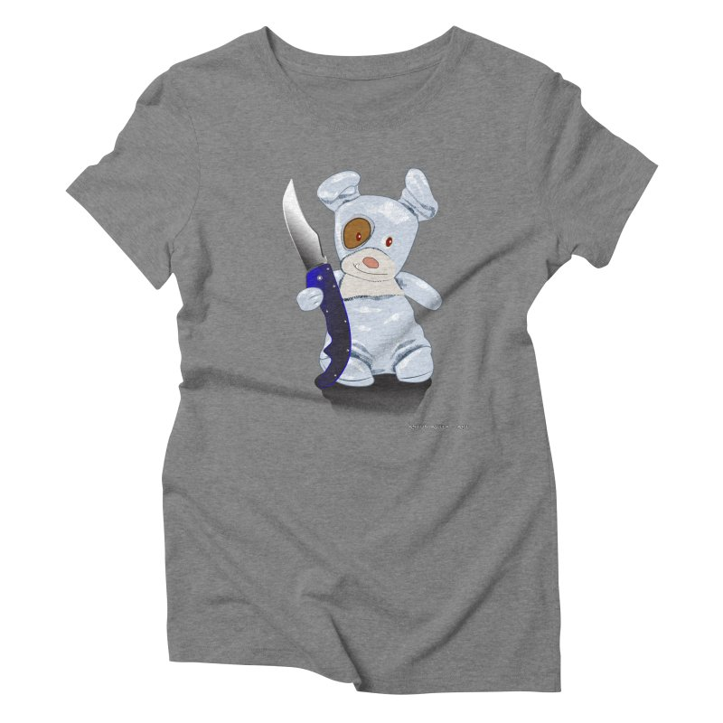 Daddy's 'lil Psycho Boy Women's Triblend T-Shirt by AntonAbela-Art's Artist Shop