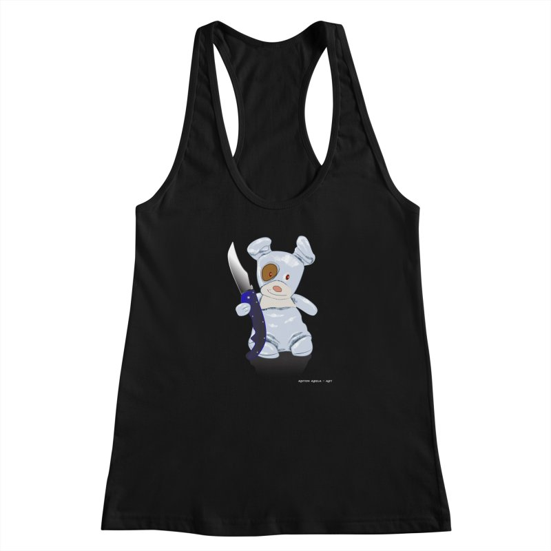 Daddy's 'lil Psycho Boy Women's Racerback Tank by AntonAbela-Art's Artist Shop