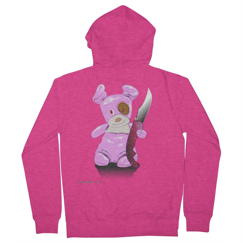 Doggies' Angel Women's French Terry Zip-Up Hoody by AntonAbela-Art's Artist Shop
