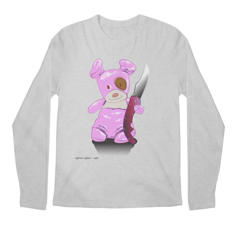 Doggies' Angel Men's Regular Longsleeve T-Shirt by AntonAbela-Art's Artist Shop