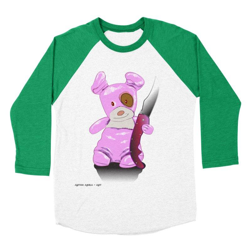 Doggies' Angel Women's Baseball Triblend Longsleeve T-Shirt by AntonAbela-Art's Artist Shop