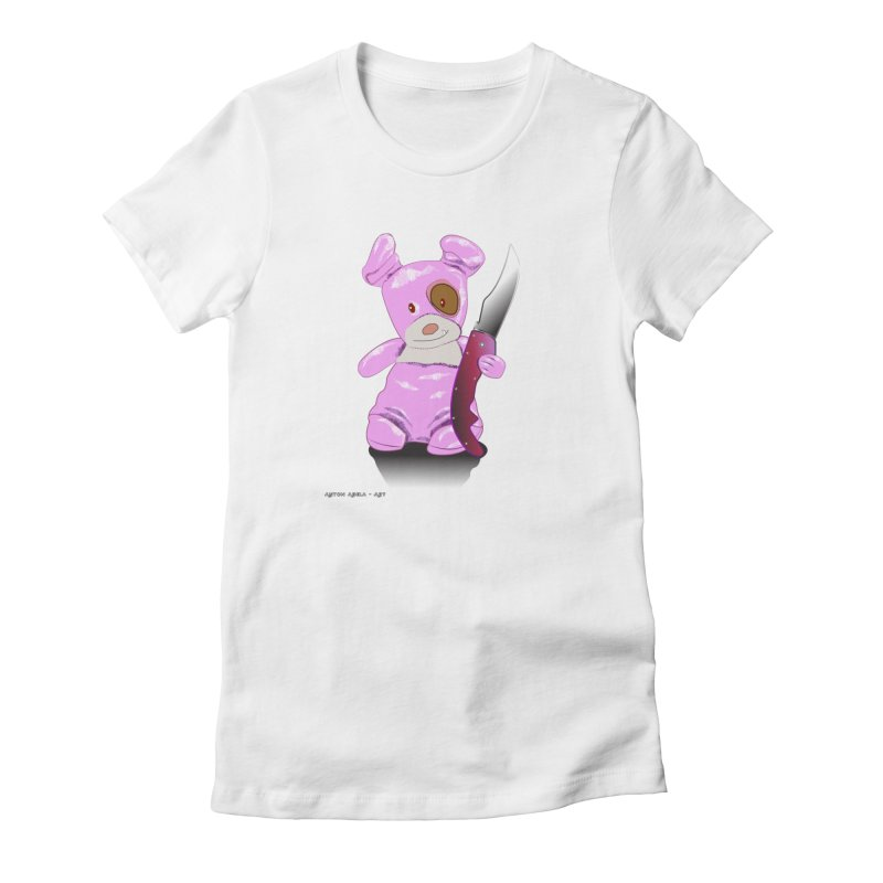 Doggies' Angel Women's T-Shirt by AntonAbela-Art's Artist Shop