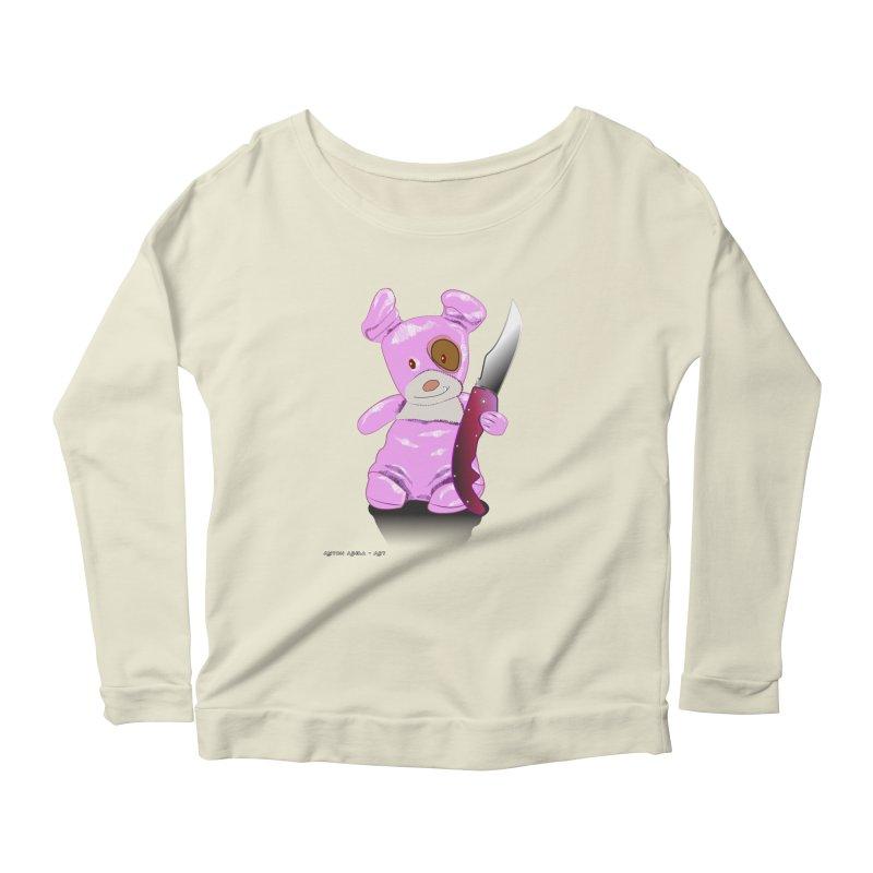 Doggies' Angel Women's Scoop Neck Longsleeve T-Shirt by AntonAbela-Art's Artist Shop