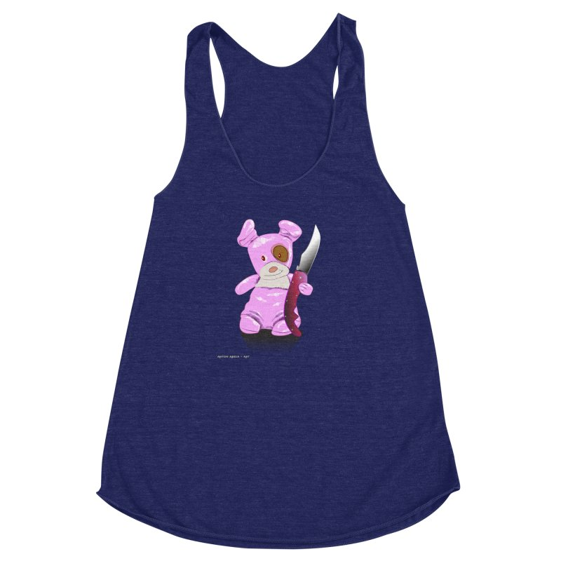 Doggies' Angel Women's Racerback Triblend Tank by AntonAbela-Art's Artist Shop