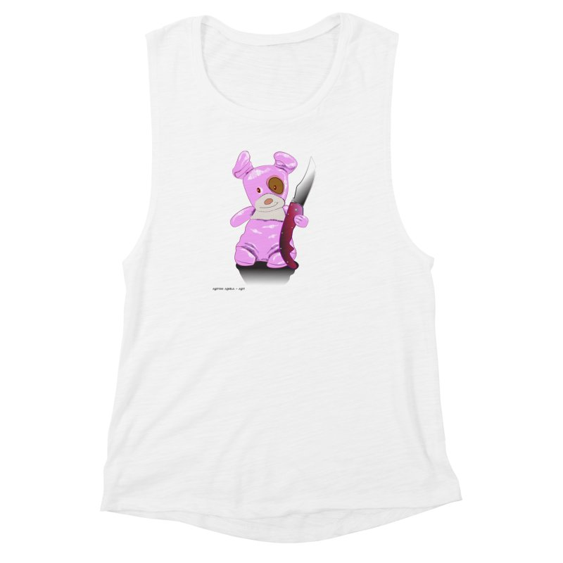 Doggies' Angel Women's Muscle Tank by AntonAbela-Art's Artist Shop
