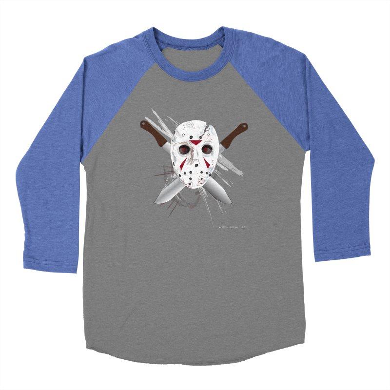 Jason Voorhees Women's Baseball Triblend Longsleeve T-Shirt by AntonAbela-Art's Artist Shop