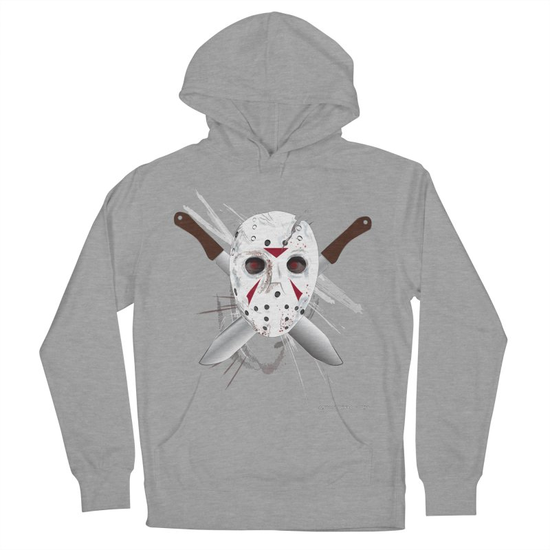 Jason Voorhees Women's French Terry Pullover Hoody by AntonAbela-Art's Artist Shop