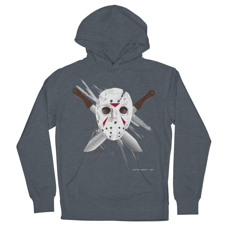Jason Voorhees Men's French Terry Pullover Hoody by AntonAbela-Art's Artist Shop