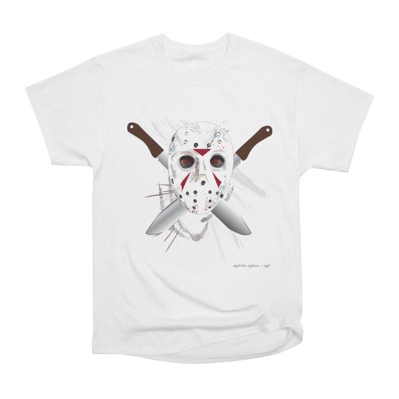 Jason Voorhees Men's Heavyweight T-Shirt by AntonAbela-Art's Artist Shop