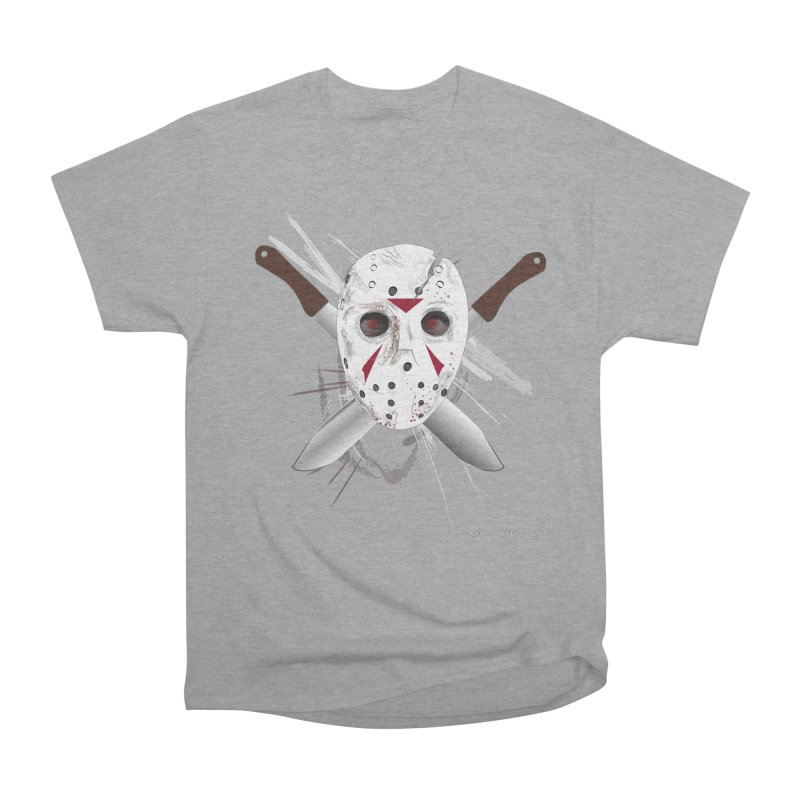 Jason Voorhees Women's Heavyweight Unisex T-Shirt by AntonAbela-Art's Artist Shop