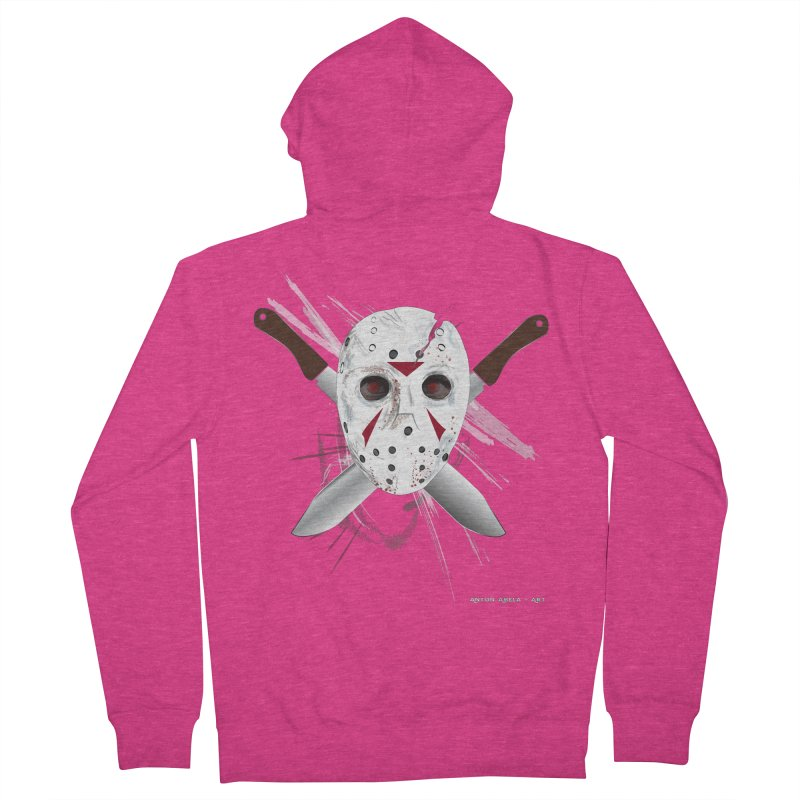 Jason Voorhees Women's French Terry Zip-Up Hoody by AntonAbela-Art's Artist Shop