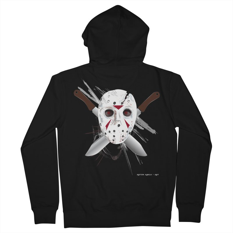 Jason Voorhees Men's French Terry Zip-Up Hoody by AntonAbela-Art's Artist Shop