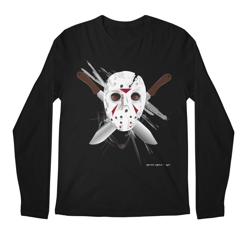 Jason Voorhees Men's Regular Longsleeve T-Shirt by AntonAbela-Art's Artist Shop