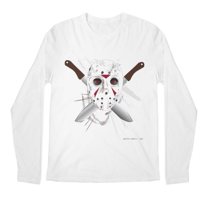 Jason Voorhees Men's Regular Longsleeve T-Shirt by AntonAbela-Art's Artist Shop