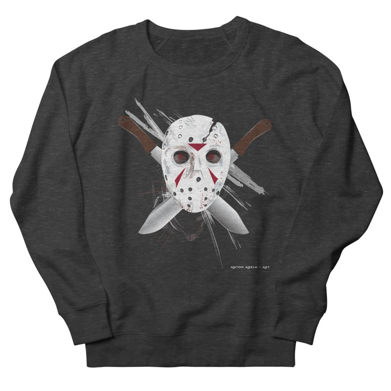 Jason Voorhees Women's French Terry Sweatshirt by AntonAbela-Art's Artist Shop