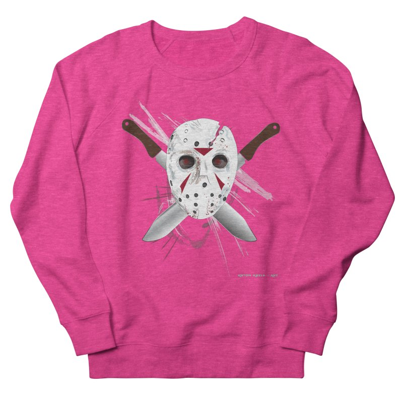 Jason Voorhees Men's French Terry Sweatshirt by AntonAbela-Art's Artist Shop