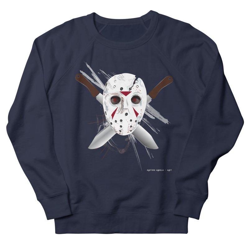 Jason Voorhees Men's French Terry Sweatshirt by AntonAbela-Art's Artist Shop