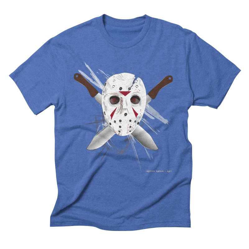 Jason Voorhees Men's Triblend T-Shirt by AntonAbela-Art's Artist Shop