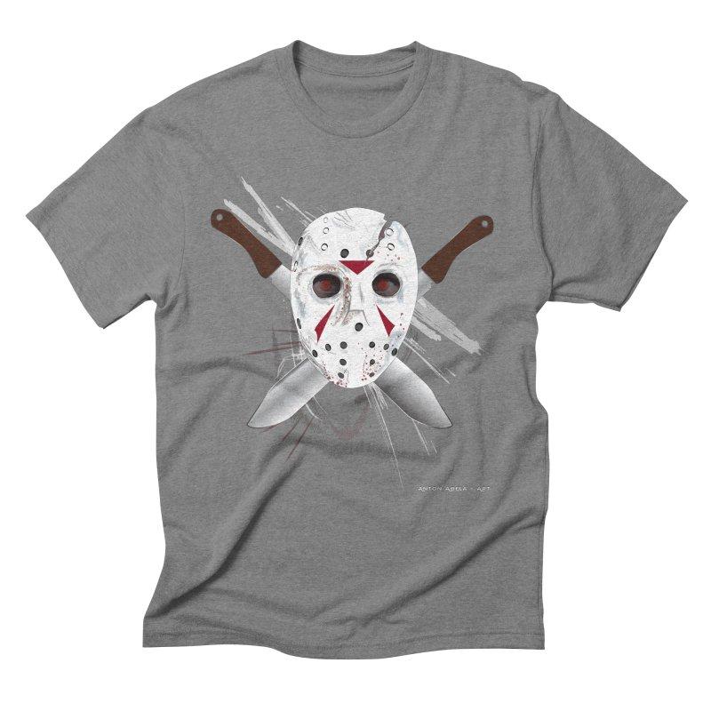 Jason Voorhees Men's Triblend T-Shirt by AntonAbela-Art's Artist Shop