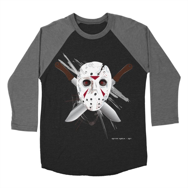 Jason Voorhees Women's Baseball Triblend Longsleeve T-Shirt by AntonAbela-Art's Artist Shop