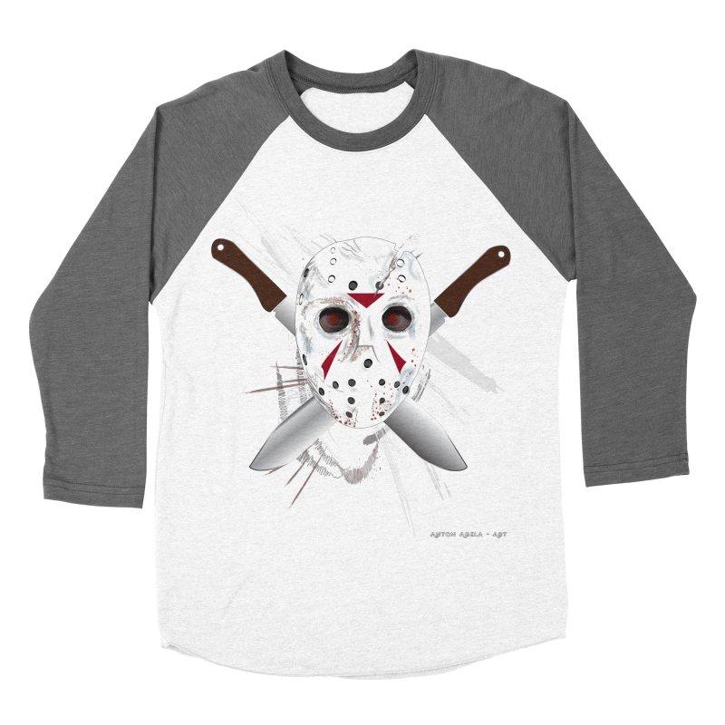 Jason Voorhees Men's Baseball Triblend T-Shirt by AntonAbela-Art's Artist Shop
