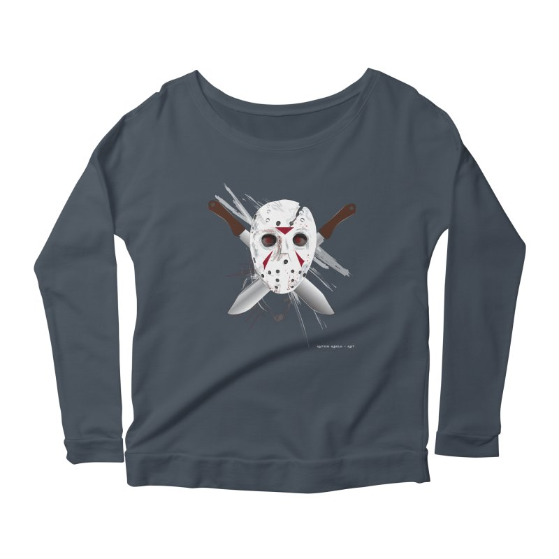 Jason Voorhees Women's Scoop Neck Longsleeve T-Shirt by AntonAbela-Art's Artist Shop