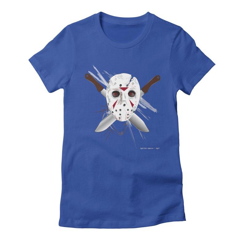 Jason Voorhees Women's Fitted T-Shirt by AntonAbela-Art's Artist Shop