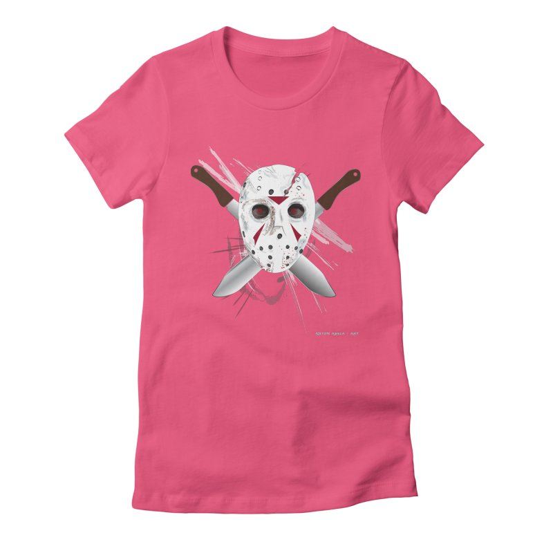 Jason Voorhees Women's Fitted T-Shirt by AntonAbela-Art's Artist Shop