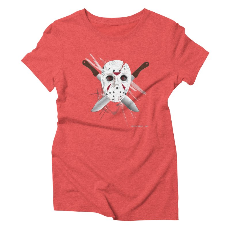 Jason Voorhees Women's Triblend T-Shirt by AntonAbela-Art's Artist Shop