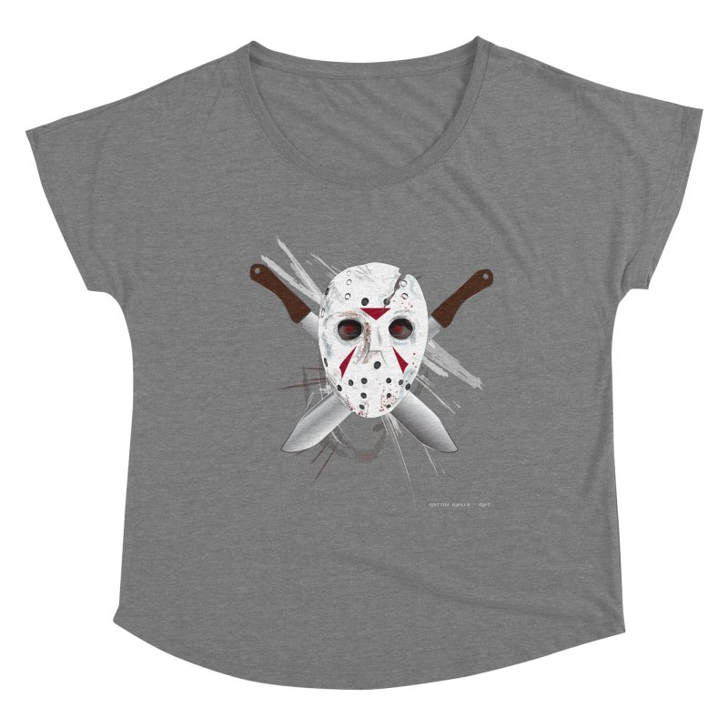 Jason Voorhees Women's Scoop Neck by AntonAbela-Art's Artist Shop