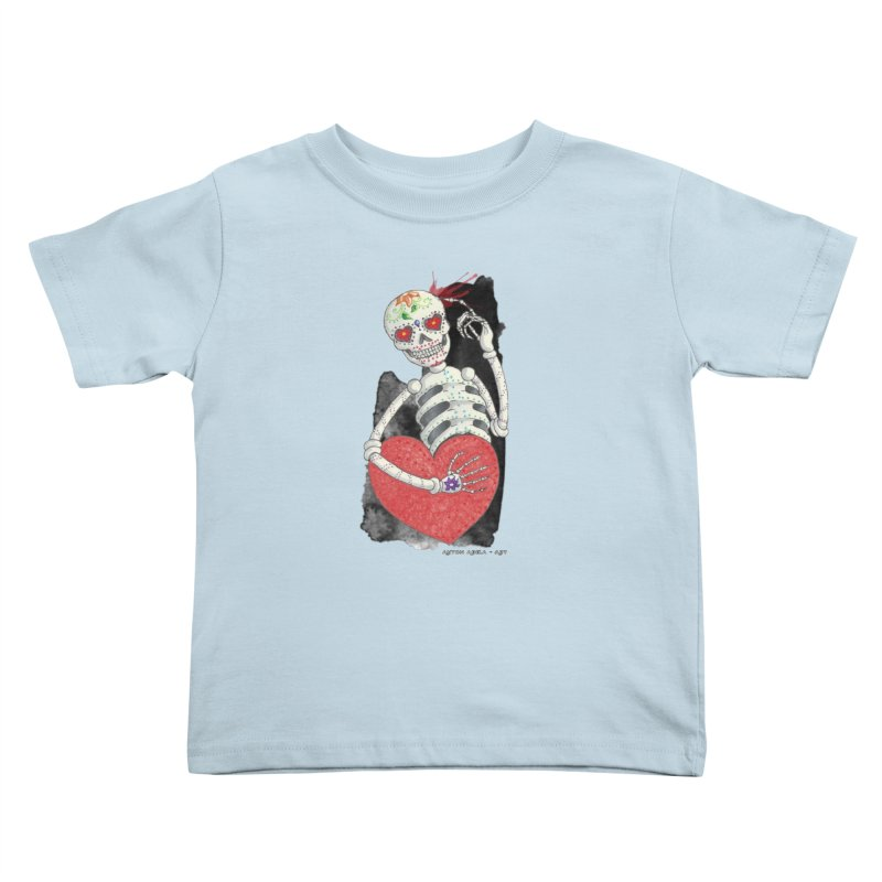 Calaca in Love Kids Toddler T-Shirt by AntonAbela-Art's Artist Shop