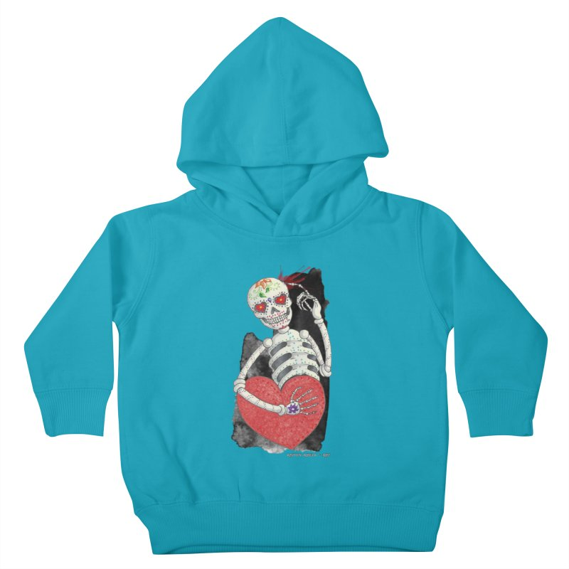 Calaca in Love Kids Toddler Pullover Hoody by AntonAbela-Art's Artist Shop