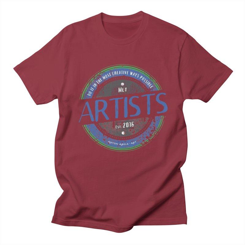 Artists Do It... Men's T-shirt by AntonAbela-Art's Artist Shop