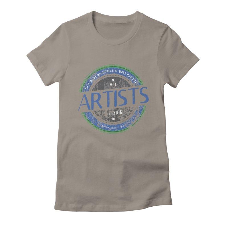Artists Do It... Women's Fitted T-Shirt by AntonAbela-Art's Artist Shop
