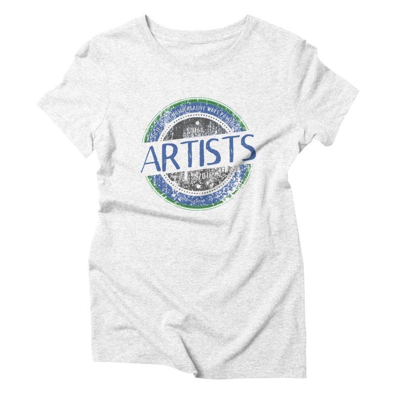 Artists Do It... Women's Triblend T-shirt by AntonAbela-Art's Artist Shop