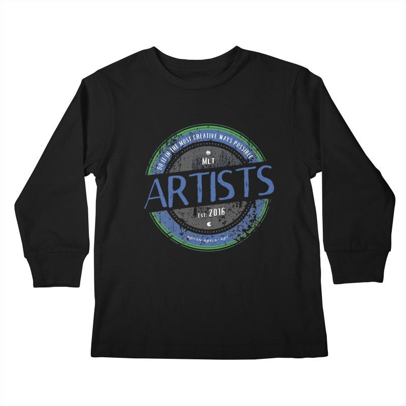 Artists Do It... Kids Longsleeve T-Shirt by AntonAbela-Art's Artist Shop