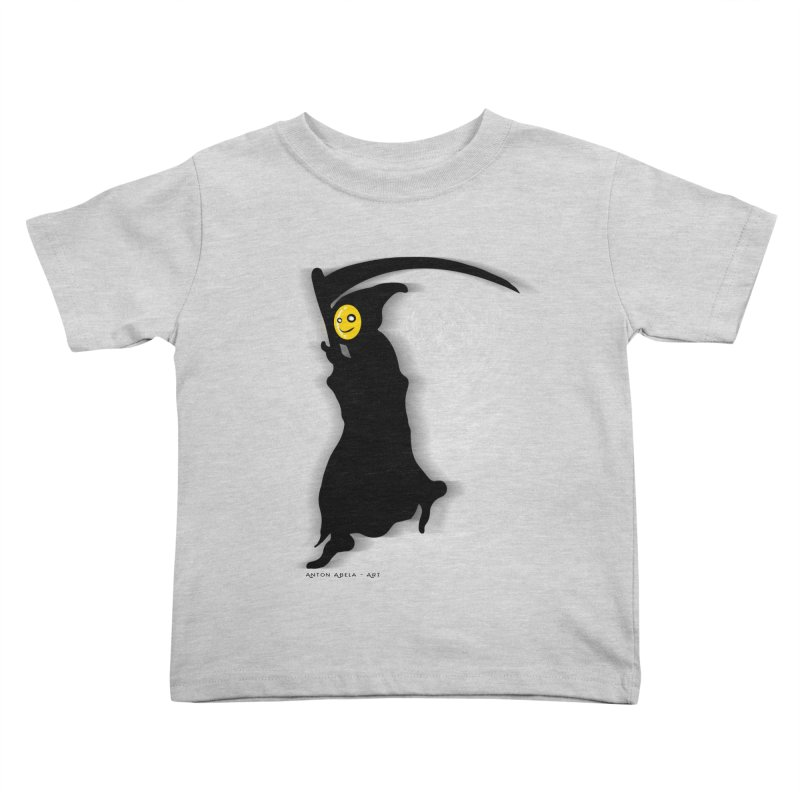 Masked Reaper Kids Toddler T-Shirt by AntonAbela-Art's Artist Shop