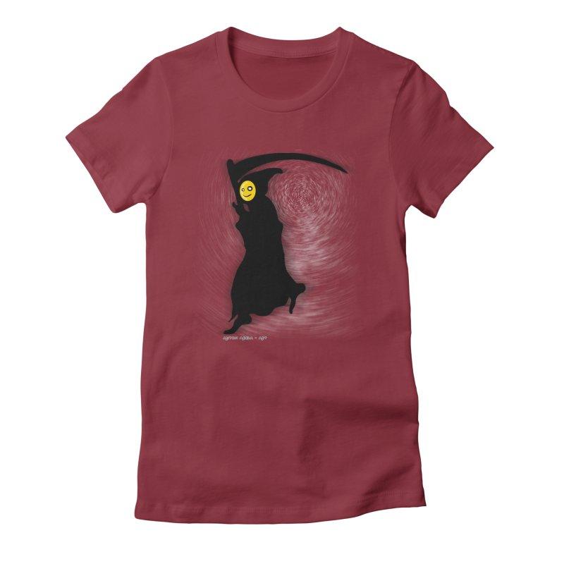 Masked Reaper Women's Fitted T-Shirt by AntonAbela-Art's Artist Shop